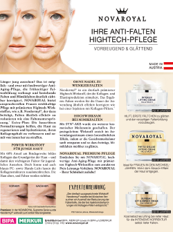 Novaroyal Werbung Krone Zeitung Falten
