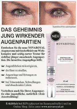 Novaroyal Krone Woche Werbung Augen Falten