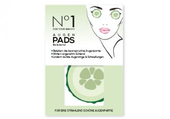 pharmawell aktionsprodukt No1 For Your Beauty Augenpads Gurken